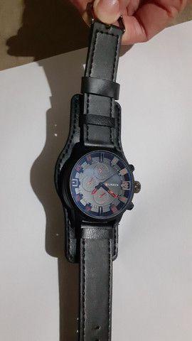 Relógio Curren pulseira de couro masculino - Foto 3