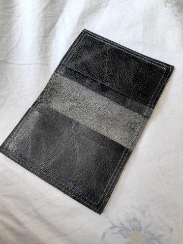 Carteira de couro legítimo - Foto 2