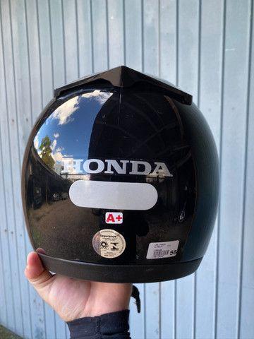 Capacete Honda HFS Essential 56 seminovo usado pouquíssimas vezes - Foto 2