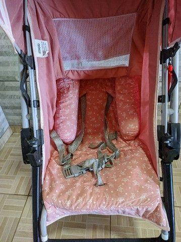 Faço entrega Carrinho De Bebê Berço Thor Plus Até 15 Kg, Tutti Baby, Rosa - Foto 3
