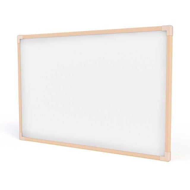 Quadro Branco moldura madeira Linha Neo 120cm x 90cm