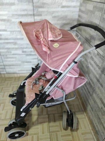 Faço entrega Carrinho De Bebê Berço Thor Plus Até 15 Kg, Tutti Baby, Rosa - Foto 4