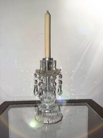 Castiçal de cristal 20cm altura