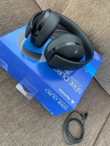 Headset Sem Fio Série Ouro - Preto - Playstation 4 - Foto 3