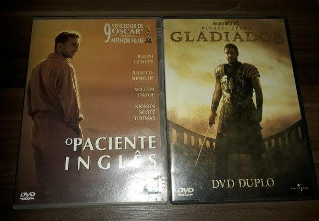 Gladiador e O Paciente Inglês DVDs originais usados