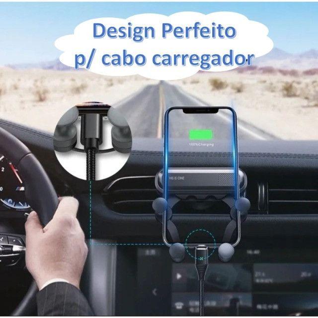 Suporte Celular Veicular Universal p Ar Condicionado c/ trava antiqueda - MTG-065 Tomate - Foto 6