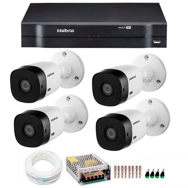 Kit Intelbras 4 Câmeras HD 720p VHL 1120 B + DVR 1004 Intelbras + Acessóriosa - Foto 3