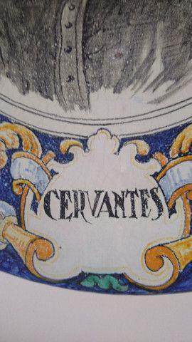 Belíssimo prato antigo Cervantes - Foto 4