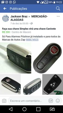 Chaves Canivete Para todos Modelos de Carros Com Alarmes Positron