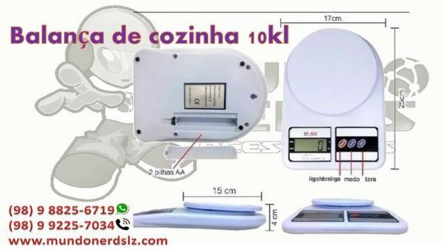 Balança Digital Precisão 1g A 10 Kg Cozinha Dieta Fitness em são luis ma - Foto 2