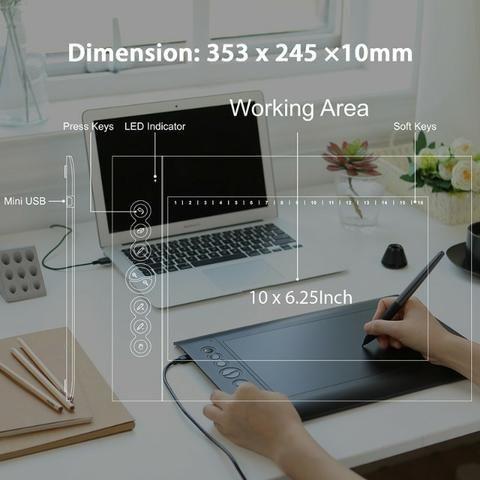 Huion H610 Pro V2 - Tablet Gráfico Profissional - Foto 3