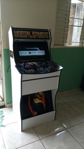 Bartop tela de 19 polegadas com 7 mil jogos sistema linux batocera - Foto 3