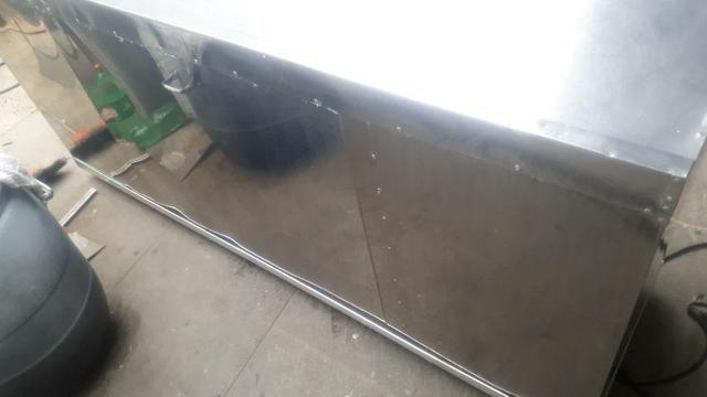 Balcão refrigerado todo em inox - Foto 2