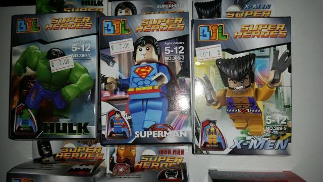 Brinquedos lego de super heroi