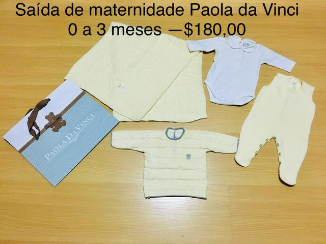Saída de maternidade Paola da Vinci-0 a 3 meses- 4 peças