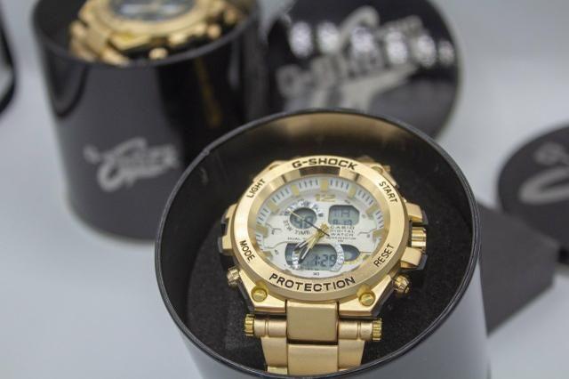 Relógio de pulso G-shock Full metal dourado barato - Foto 4