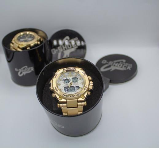 Relógio de pulso G-shock Full metal dourado barato - Foto 2