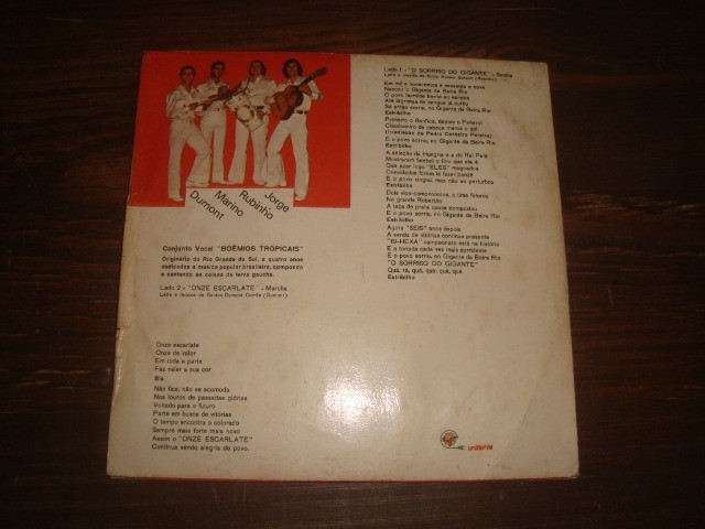 Internacional, Futebol, 1969 - 1974, Compacto disco vinil Inter, O Sorriso do Gigante - Foto 3