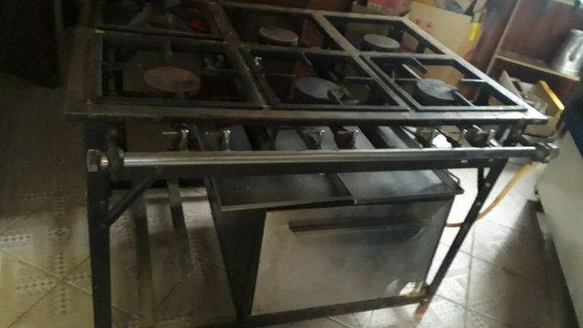 Fogao industrial marca venancio 6 bocas com forno - Foto 2