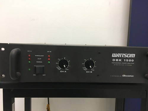 Potência Amplificador Ciclotron Dbl-1500 com 1.000 watts RMS srtereo mult uso