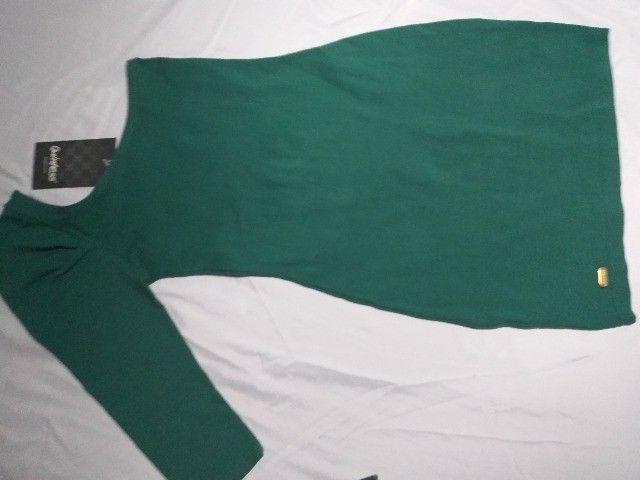 vestido verde  da quintess   meio ombro  -P- - Foto 4
