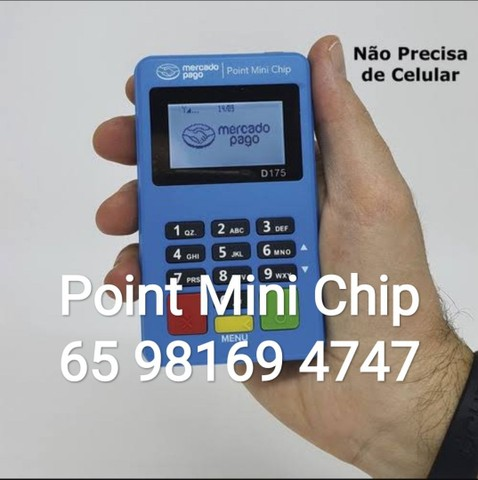 Maquininha Point Mini Chip - não precisa de celular