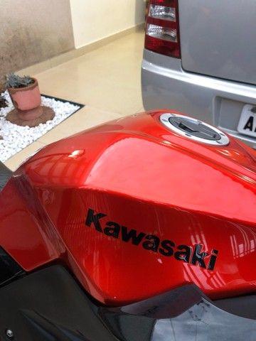 Tanque de combustível Kawazaki z300 laranja 2016 - Foto 9