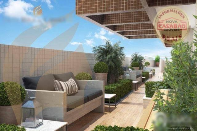 Apartamento com 2 dormitórios à venda, 93 m² por R$ 465.000 - Aviação - Praia Grande/SP - Foto 5