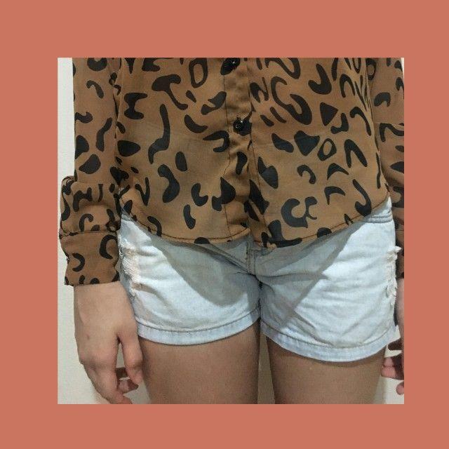 Short jeans claro Pool tamanho 38 - Foto 4