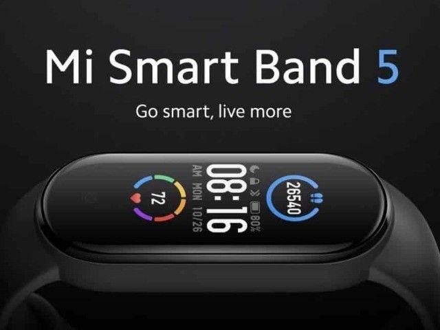 Relógio Smartwatch Xiaomi Mi Band 5 Versão Global - Preto - Original - A Pronta Entrega - Foto 3