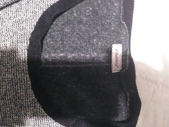 vestido cinza  marca Quintess  para frio tamanho M - Foto 2