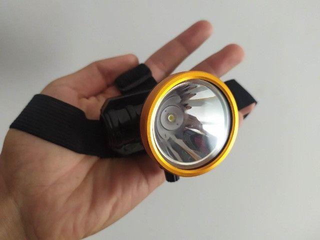 Lanterna de Cabeça Recarregável Muito Boa - Foto 3