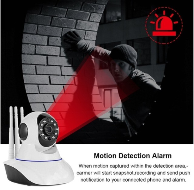 Camera Robo 3 Antenas Ip Wifi 360º 720p Sistema Yoosee/yyp2p - Foto 3