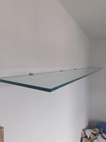 Prateleira de vidro temperado