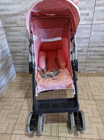 Faço entrega Carrinho De Bebê Berço Thor Plus Até 15 Kg, Tutti Baby, Rosa - Foto 5