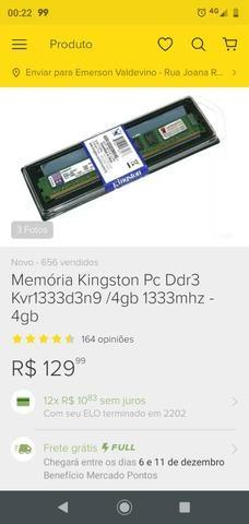 Kit placa mãe memória e processador - Foto 2