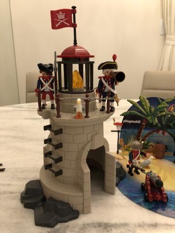 Vendo Farol + Ilha do Tesouro da Playmobil - Foto 2