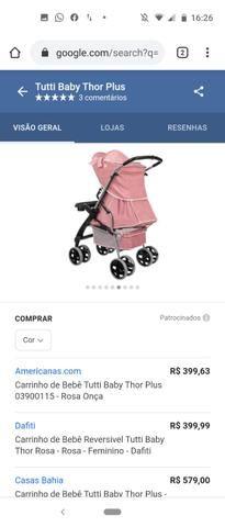 Vendo carrinho de bebê Tutti baby - Foto 3