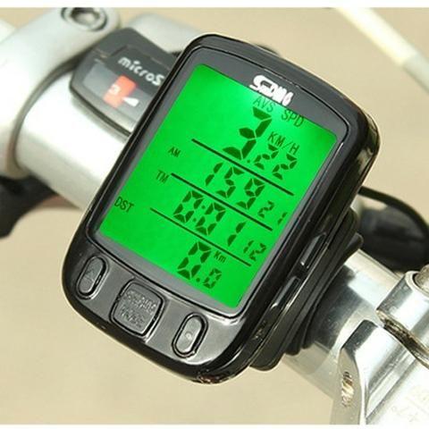 Velocímetro Ciclo Computador Bike Sensor Com Fio Luz Noturna