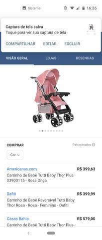 Vendo carrinho de bebê Tutti baby - Foto 2
