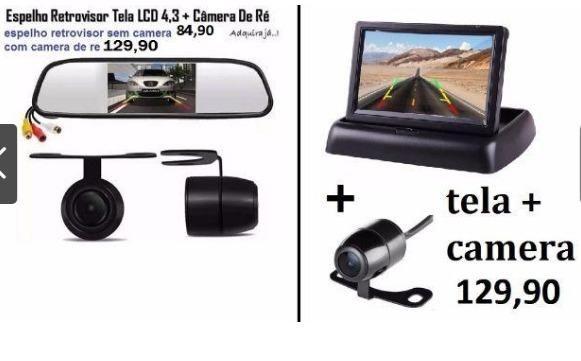 Espelho retrovisor com tela lcd 4,3 + câmera de ré universal,novos - Foto 2