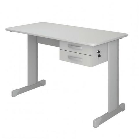 Duas Mesas para Escritório 120cmx60cm Cinza