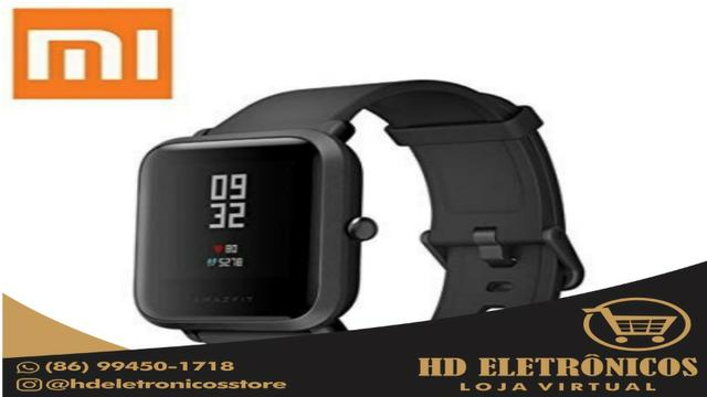 Relógio Smartwatch Xiaomi Amazfit Bip + pulseira reserva + pelicula