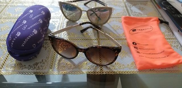2 óculos femininos ferrovia - Bijouterias, relógios e acessórios ... 84f2e4fe04