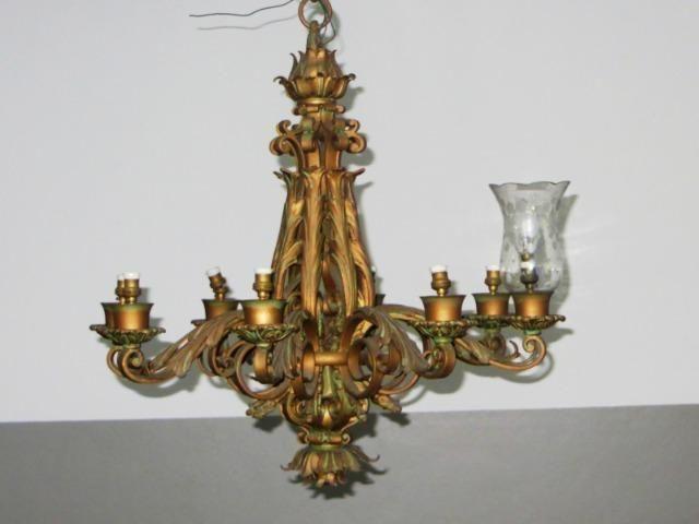 Lustre em bronze médio