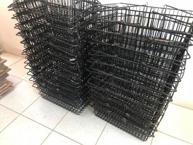 Cestinha de Supermercado Preta - Foto 3