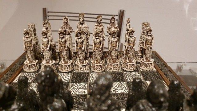 Jogo de Xadrez Antiguidade 70 anos  - Foto 3