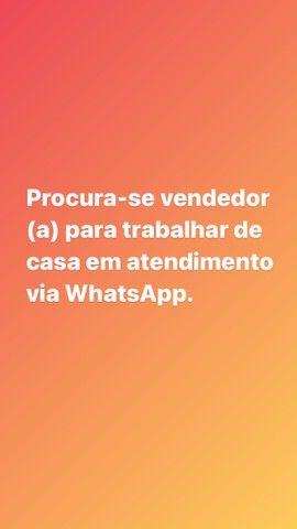 Vaga vendedora (o) online atendimento WhatsApp