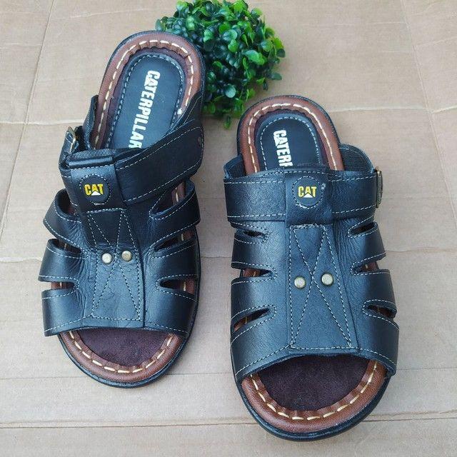 Sandálias em couro  - Foto 3