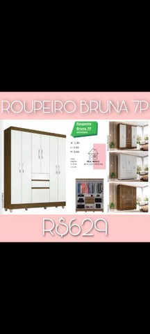 Roupeiro Bruna 7 portas